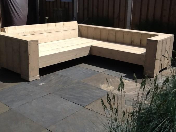 Voorbeelden zelfgemaakte meubels pagina 5 van 8 for Steigerhout hoekbank bouwtekening