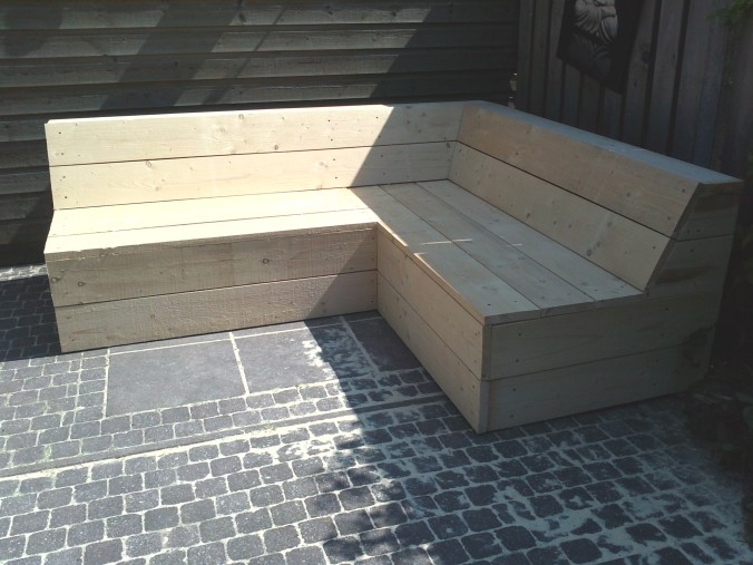 Hoe Maak Ik Een Steigerhouten Loungebank.Oostenrijkse Steigerhouten Hoekbank Of Hoekbank Steigerhout Maken
