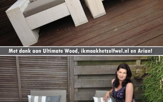 Mijn man is een echte metaalboer en zag er wel een beetje tegenop om deze stoelen van steigerhout in elkaar te zetten. Maar dankzij de perfecte beschrijving van Ikmaakhetzelfwel èn de op maat gezaagde planken van Ultimate Wood, viel het hem heel erg mee. We zijn erg blij met het resultaat. Vr.gr. Erica Office Support
