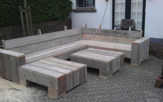 Zelf hoekbank maken van pallets zelf een bank maken van pallets tuinbank steigerhout wp - Opslag idee lounge ...