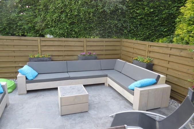 Voorbeelden zelfgemaakte meubels for Loungeset steigerhout zelf maken