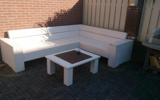 Voorbeelden zelfgemaakte meubels for Steigerhout tuinmeubelen zelf maken