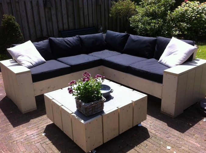 Voorbeelden zelfgemaakte meubels for Bouwtekening hoekbank