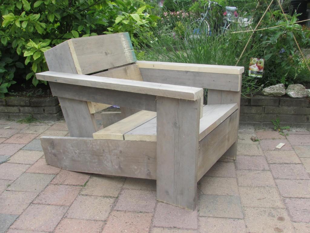 Loungestoel of bank van steigerhout zelf maken download for Zitbank steigerhout