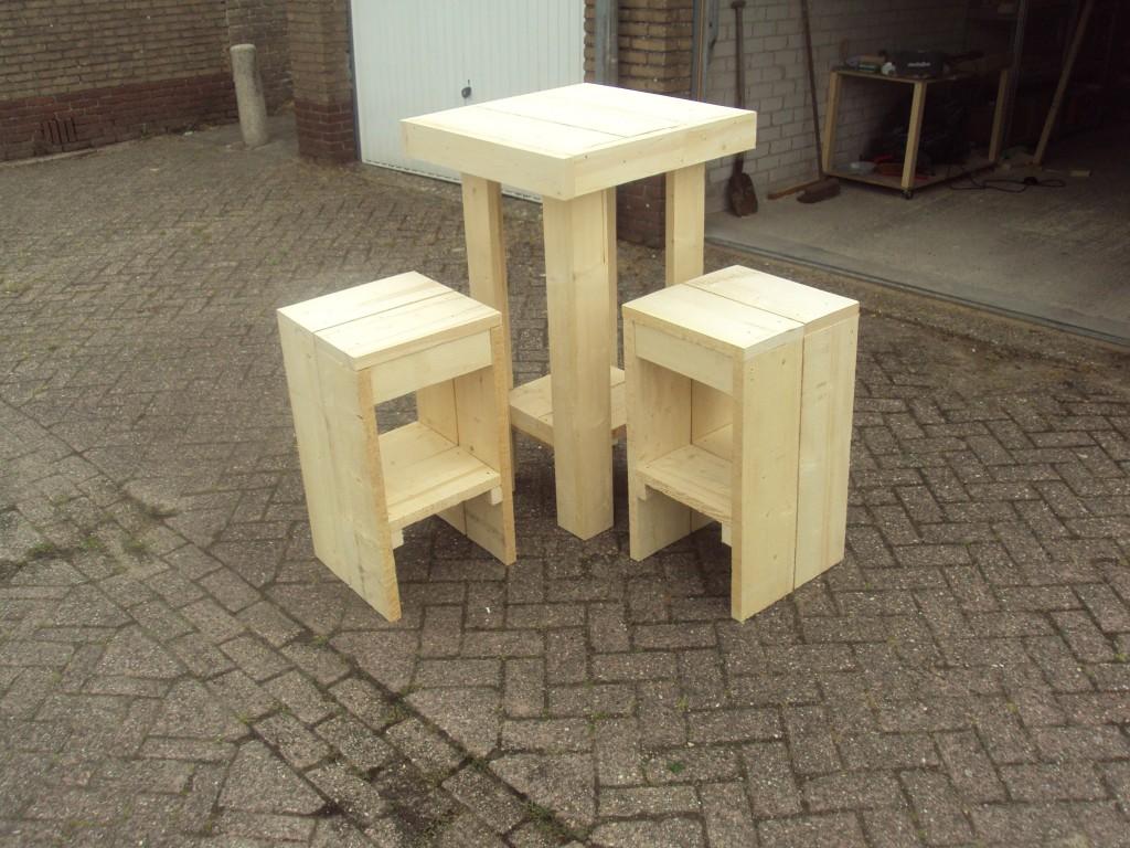 Statafel van steigerhout zelf maken Steigerhouten tafel met steigerbuizen zelf maken