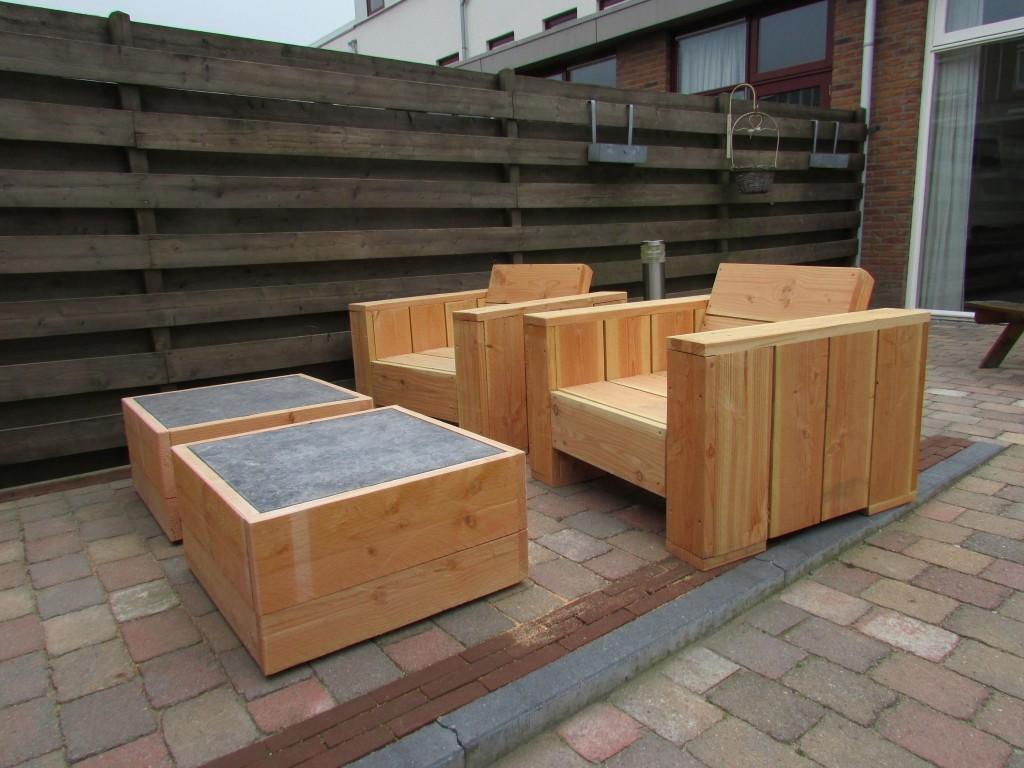 Loungeset van steigerhout u0026quot;Franku0026quot; - IkMaakHetZelfWel.nl